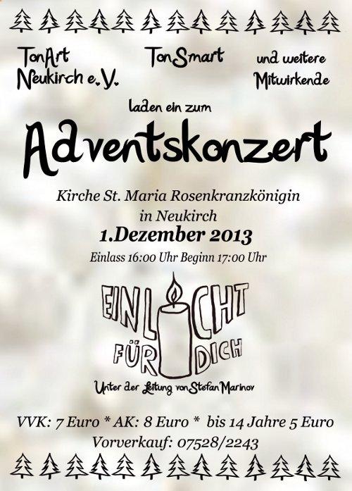 Plakat Adventskonzert 2013