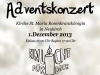 Plakat Adventskonzert 2013